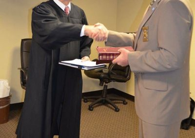 Chief Justice Martin swears in Sheriff Holland as Vice Chair of NC State Task Force on Safer Schools