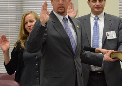 Holland swearing in as Chairman-of State Task Force for Safer Schools