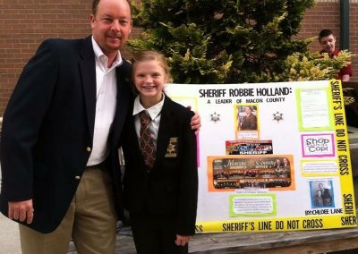 Sheriff Holland and student