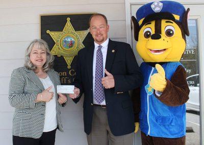 Judy Chapman, Sheriff Holland, and DARE