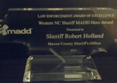Receiving the MADD Award December 2011